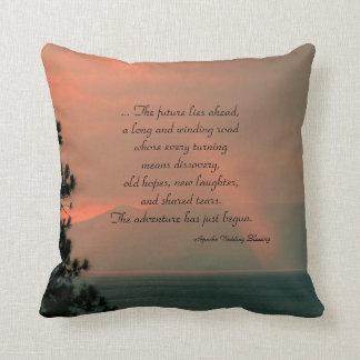 Square Throw Pillow Apache Blessing Light Beam Cushion