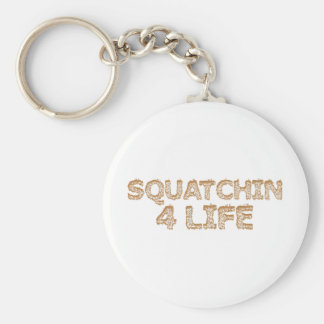 Squatchin For Life Basic Round Button Key Ring