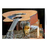 Squirrel and Guitar Greeting Card