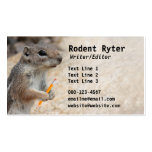 Squirrel Writer Business Card Template