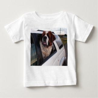 St. Bernard in car window. Tee Shirts