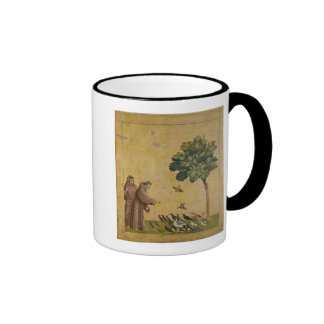St. Francis of Assisi preaching to the birds Ringer Mug