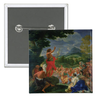 St. John the Baptist Preaching, painted before 169 15 Cm Square Badge