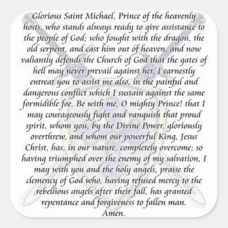 St Michael - Swords and Shield Square Sticker