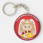 St. Michael the Archangel Basic Round Button Key Ring