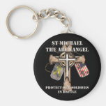 St Michael The Archangel - Protect Our Soldiers Basic Round Button Key Ring