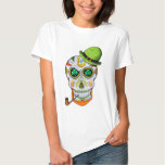St Paddy's Day Sugar Skull Tshirt