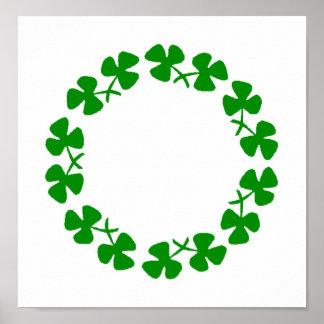St. Patrick's Day Shamrock Ring Poster