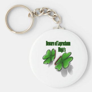 St. Patrick's Day, beware the leprechaun ninja's Basic Round Button Key Ring