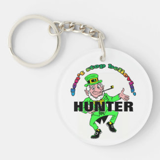 St. Patrick's Day Leprechaun Don't Stop Believing Double-Sided Round Acrylic Key Ring