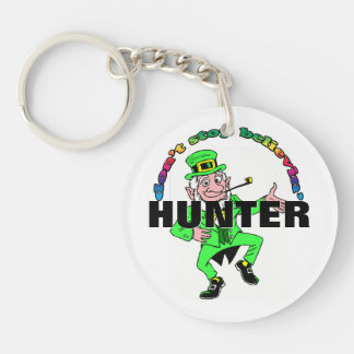 St. Patrick's Day Leprechaun Don't Stop Believing Single-Sided Round Acrylic Key Ring