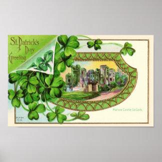 St. Patrick's Day Vintage Ireland Castle Poster