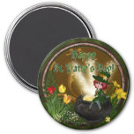 St Pattys Leprechaun 7.5 Cm Round Magnet