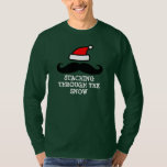 Staching through the snow | Cute Christmas sweater T-shirt