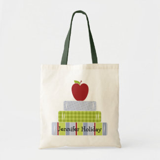 Stacked Books Teacher's Tote Bag