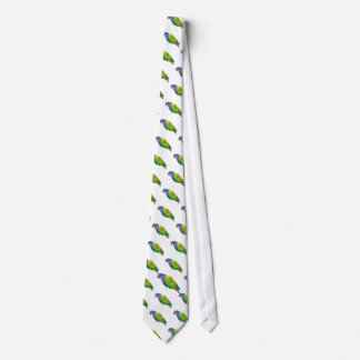 Stained Glass Pionus Parrot Tie