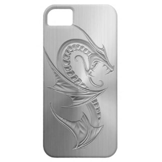Stainless Steel Effect Dragon Graphic iPhone 5 Case