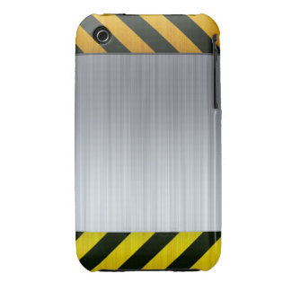Stainless Steel with Hazard Stripes Case-Mate iPhone 3 Case