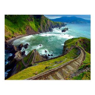 Stairway To Heaven Trail in Oahu Hawaii Postcard