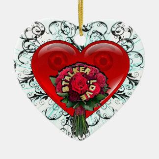 Stalker Love Ceramic Heart Decoration