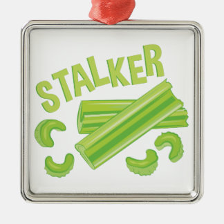 Stalker Silver-Colored Square Decoration