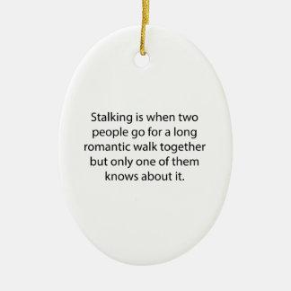 Stalking Romantic Walk Ceramic Oval Decoration