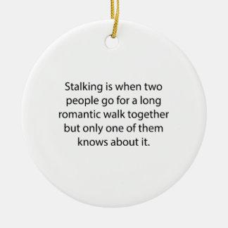 Stalking Romantic Walk Round Ceramic Decoration