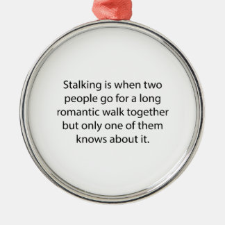 Stalking Romantic Walk Silver-Colored Round Decoration