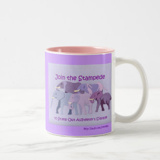 Stamp Out Alzheimer's Two-Tone Mug