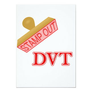 Stamp Out DVT 13 Cm X 18 Cm Invitation Card