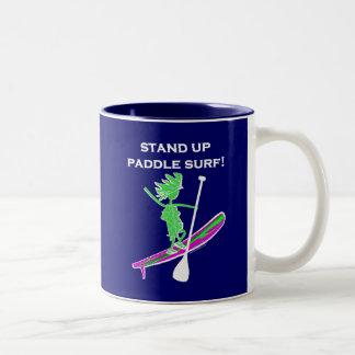 Stand Up Paddle Surf! Two-Tone Mug