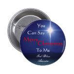 Star of Bethlehem, Can Say, Merry,... - Customised 6 Cm Round Badge