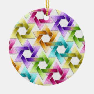 Star of David Damask Hanukkah Ornament