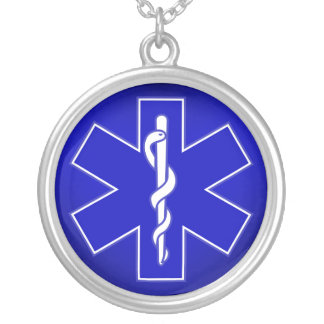 Star of Life / EMT Round Pendant Necklace
