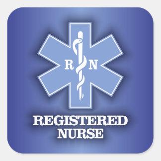 Star of Life -Registered Nurse Square Sticker