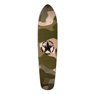 Star Stencil Vintage on Camouflage 21.6 Cm Skateboard Deck