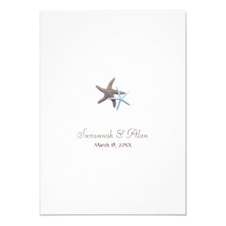 Starfish Beach Wedding Invitations, 5x7 13 Cm X 18 Cm Invitation Card