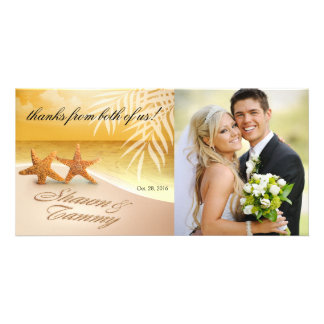 Starfish Couple ASK ME TO PUT NAMES IN SAND Picture Card