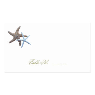 Starfish Couple Escort Seating Cards Pack Of Standard Business Cards