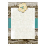 Starfish Hibiscus Vintage Wood Business Card