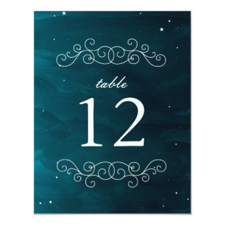 Stargazer Table Number 11 Cm X 14 Cm Invitation Card