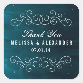 Stargazer Wedding Favor Stickers