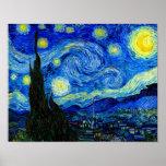 Starry Night by Van Gogh Fine Art Poster Print