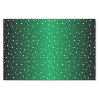 """Starry Night in Shiny Green 10"""" X 15"""" Tissue Paper"""