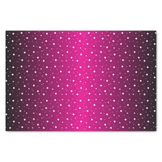 """Starry Night in Shiny Hot Pink 10"""" X 15"""" Tissue Paper"""