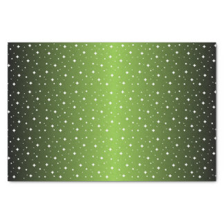 """Starry Night in Shiny Lime Green 10"""" X 15"""" Tissue Paper"""
