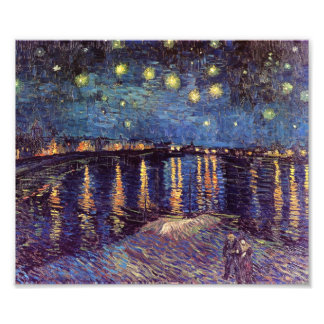 Starry Night Over the Rhone - Van Gogh Art Photo