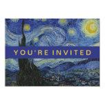 Starry Night Vincent van Gogh Painting 13 Cm X 18 Cm Invitation Card