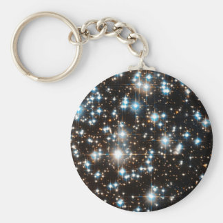 """Stars 2"" Basic Round Button Key Ring"