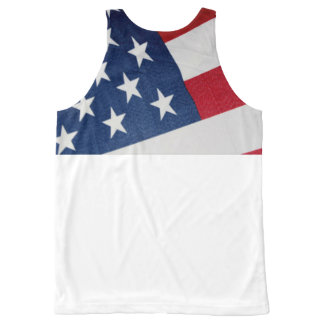 Stars and Stripes All-Over Print Tank Top